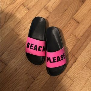 Brand New Victoria Secret Pink Beach Slide shoes